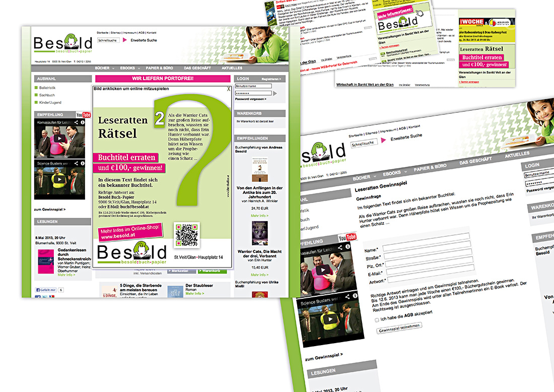 Corporate Design Buchhandlung Besold