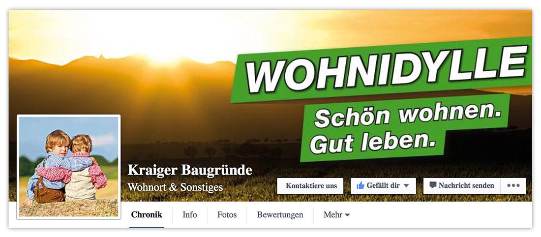 Social-Media-Kampagne Kraiger Baugründe