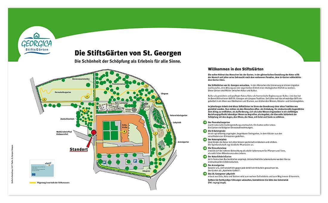 Werbekonzept für die StiftsGärten von St. Georgen