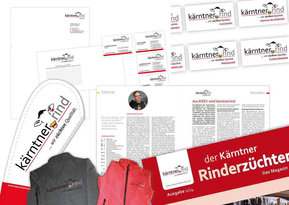Corporate Design Kärntner Rind