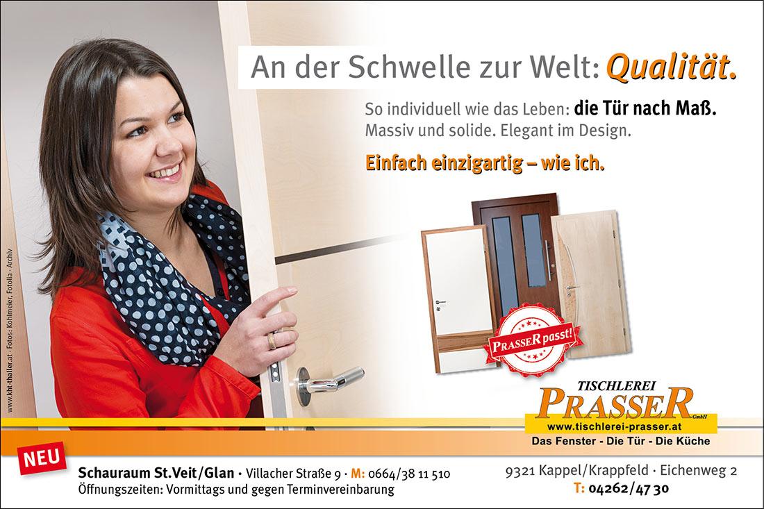 Umsetzung Werbekampagne Tischlerei Prasser Kappel