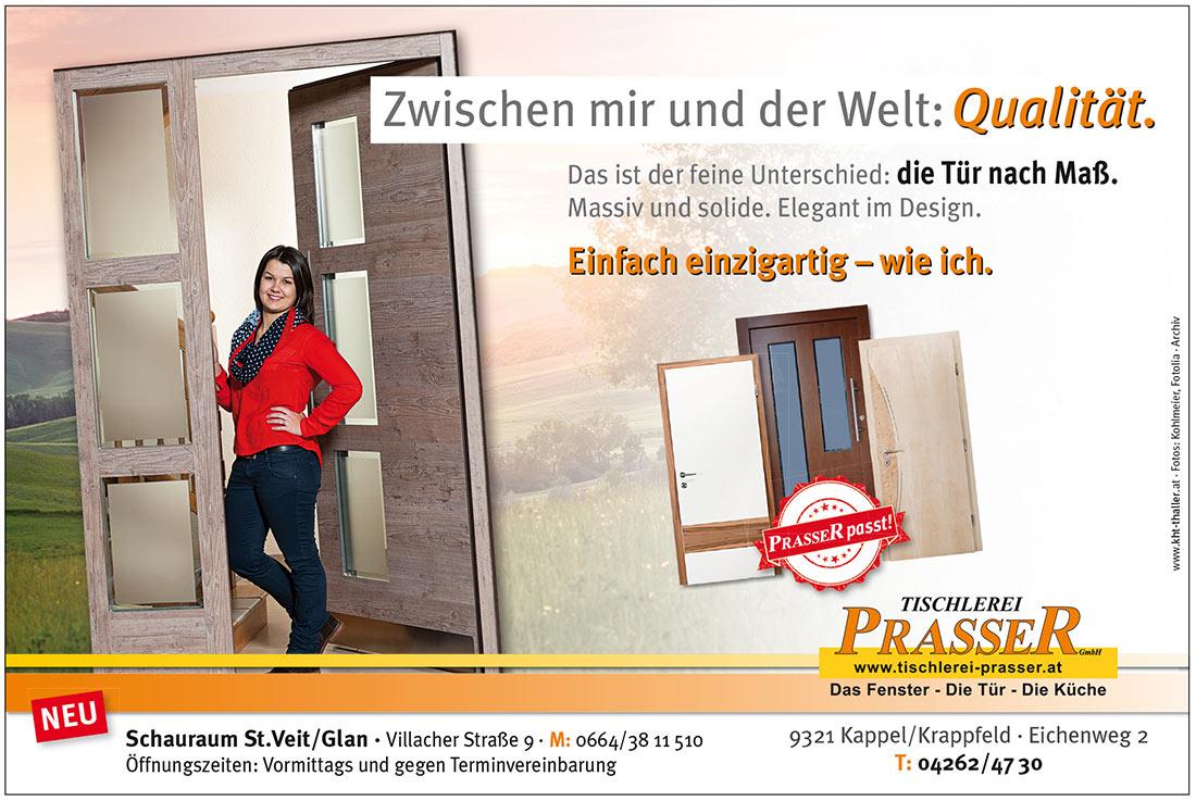 Kärntner Werbung wirkt: Tischlerei Prasser!